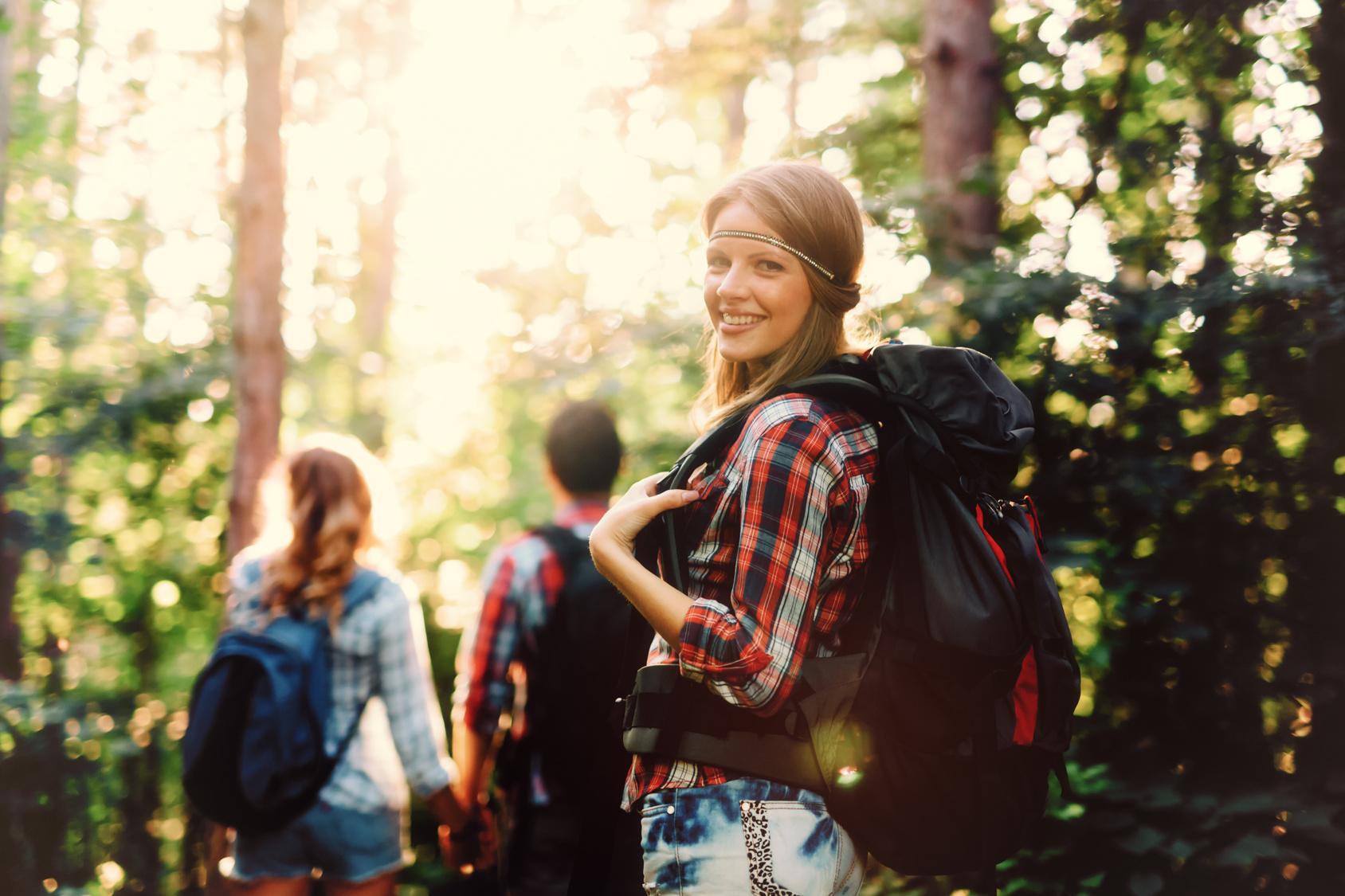 teens on outdoor hike